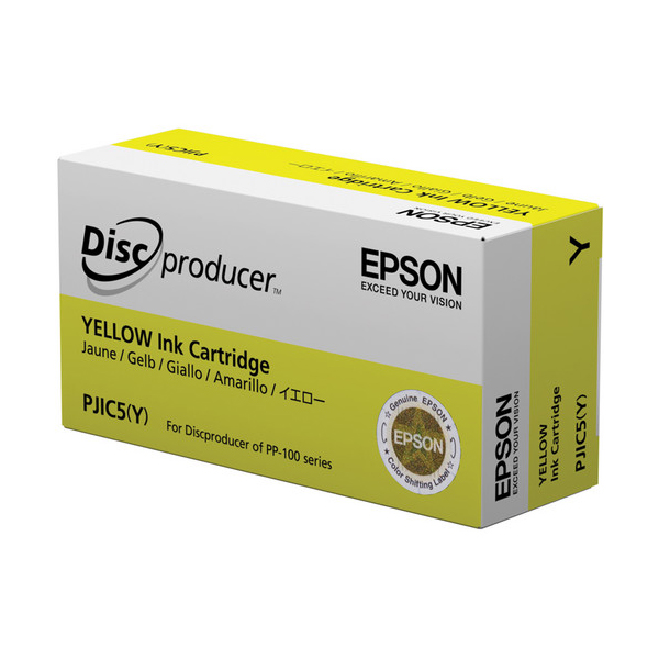 Epson PJIC5(Y) Yellow Ink Cartridge for the PP-100 Discproducer Auto Printer