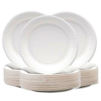 Hotpack Paper Plate 9 (pkt/100pcs)