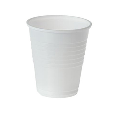 6oz Plastic Cups White (pkt/25pc)