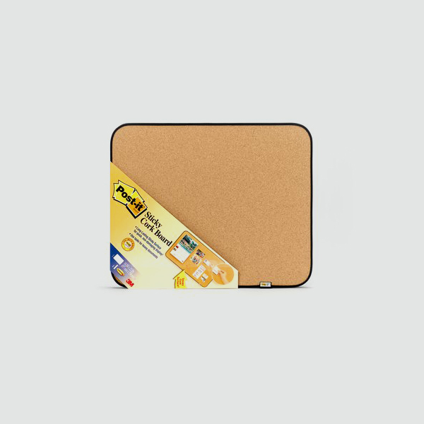 3M Post-it Sticky Cork Board 18in x 22in (pc)
