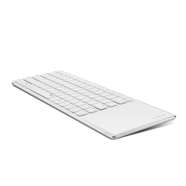 Rapoo Keyboard Ultra Slim Bluetooth with Touchpad E6700 - White
