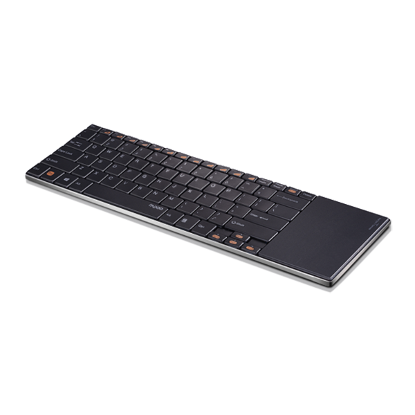 Rapoo Keyboard Ultra Slim Wireless with Touchpad E9180P - Black