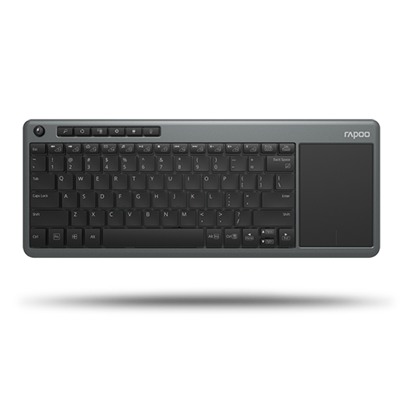 Rapoo Keyboard Wireless with Touchpad K2600 - Black