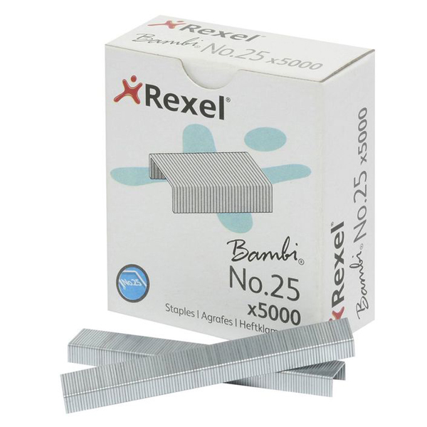 Rexel Bambi No. 25 Staple Pins - 21/4 (pkt/5000pc)