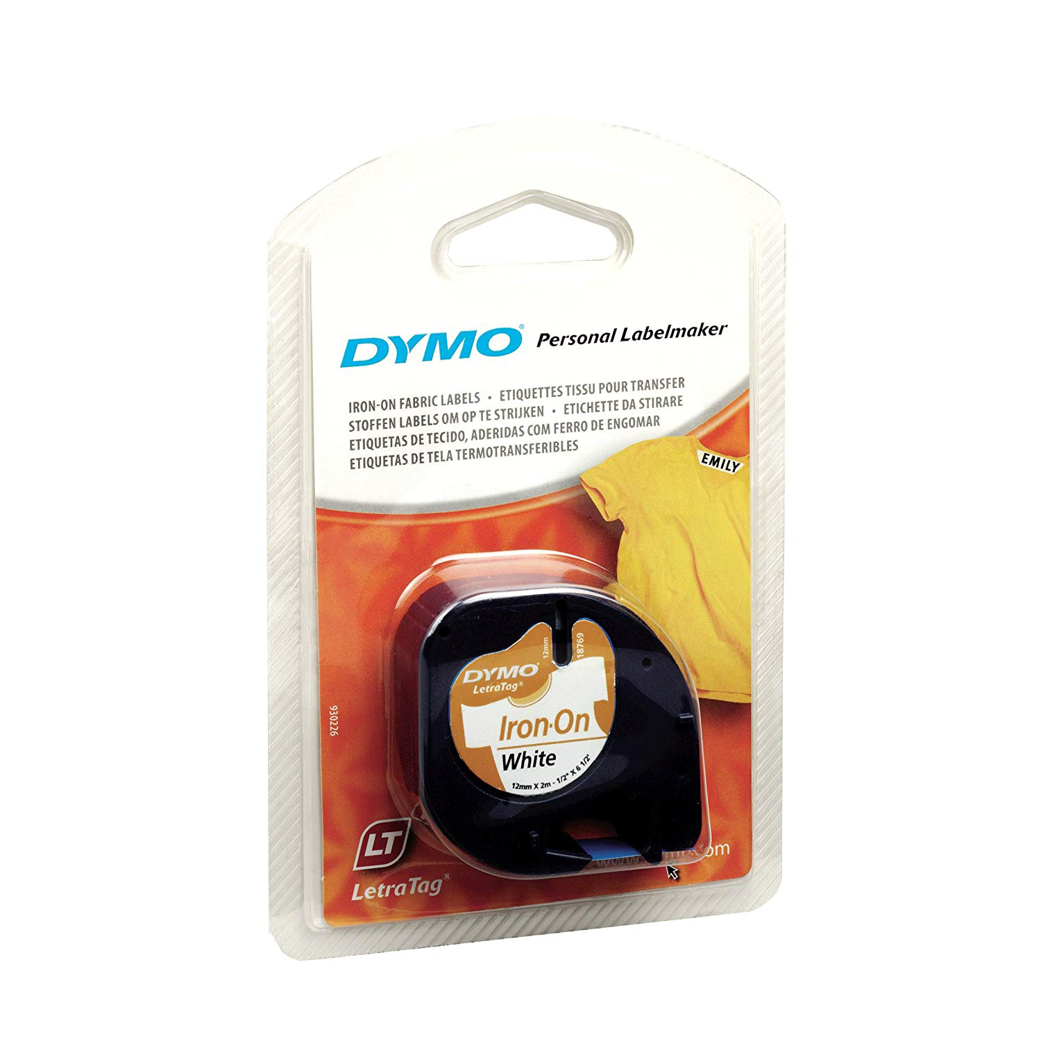 Dymo S0718850 (18769) LetraTag Fusible Tape 12mm x 2m - Iron on White (pc)