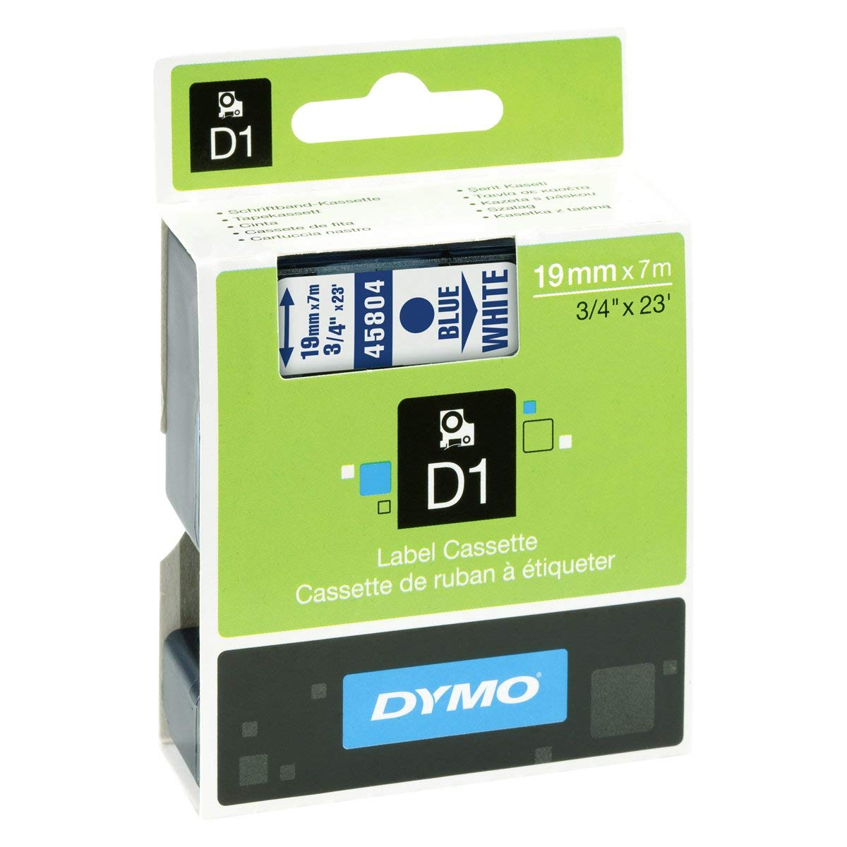 Dymo S0720840 (45804) D1 Standard Label Tape 19mm x 7m - Blue on White (pc)