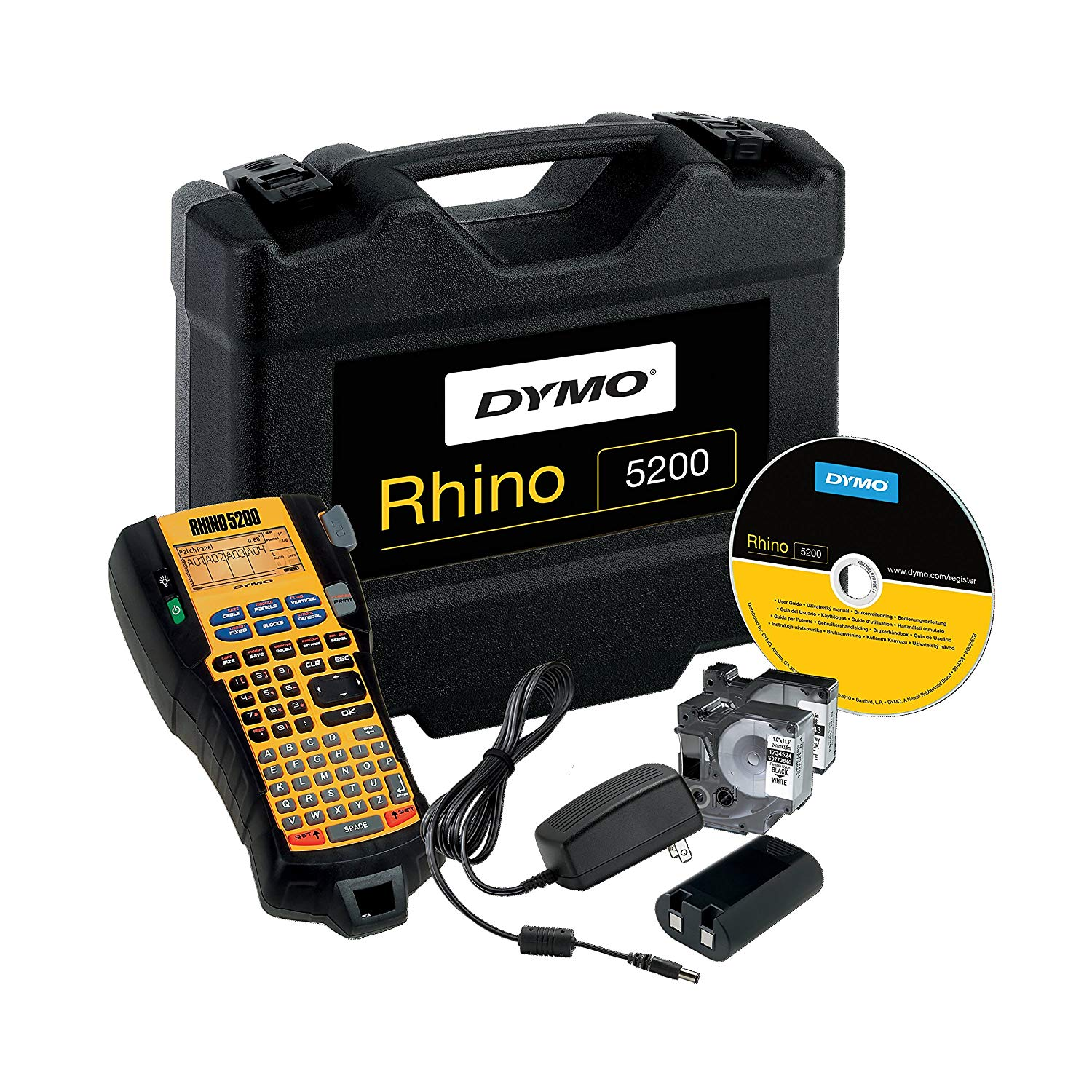 Dymo S0841390 (S0841400) Rhino 5200 Professional Label Printer Kit Case