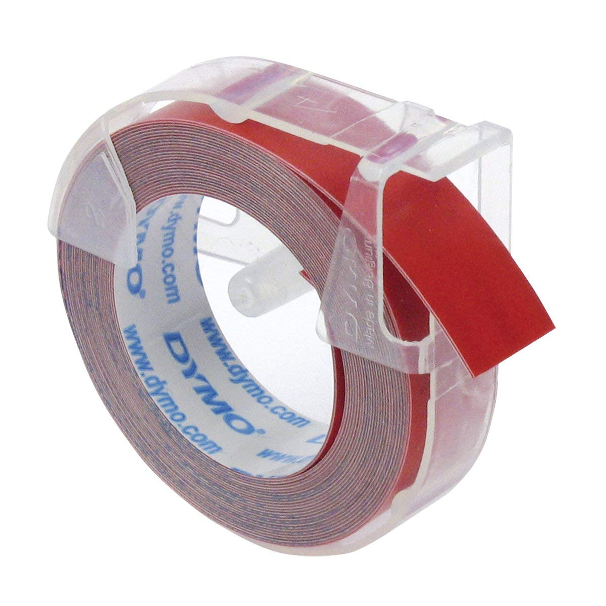 Dymo S0898150 (524702) 3D Embossing Tape 9mm x 3m - White On Red (box/10rolls)
