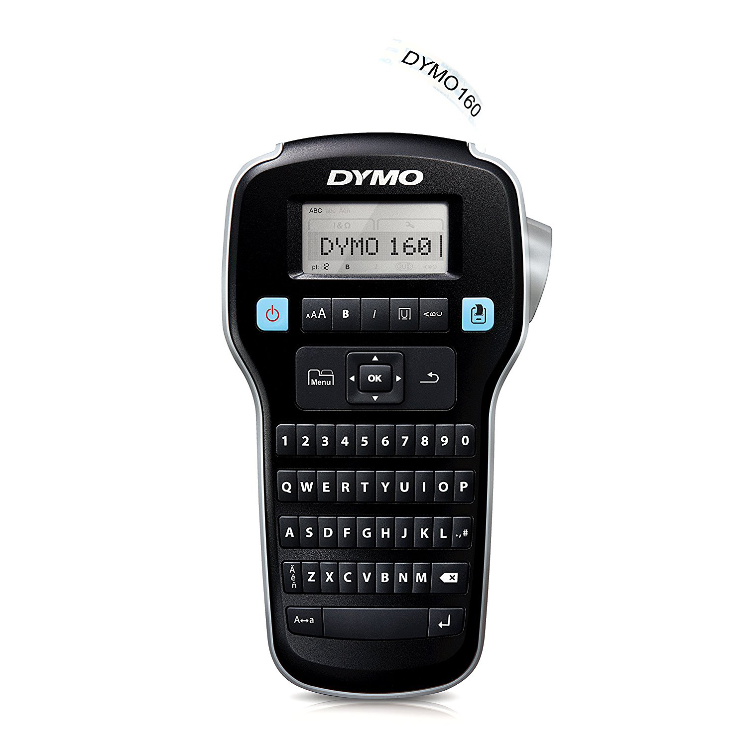 Dymo S0946320 LabelManager 160 Label Maker with Qwerty Keyboard (D1 Tape)