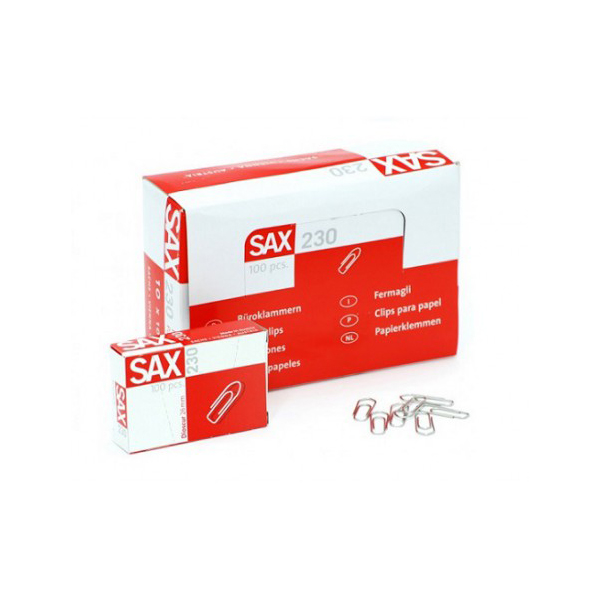 SAX 230 Paper Clips - 26mm (box/10pkt)