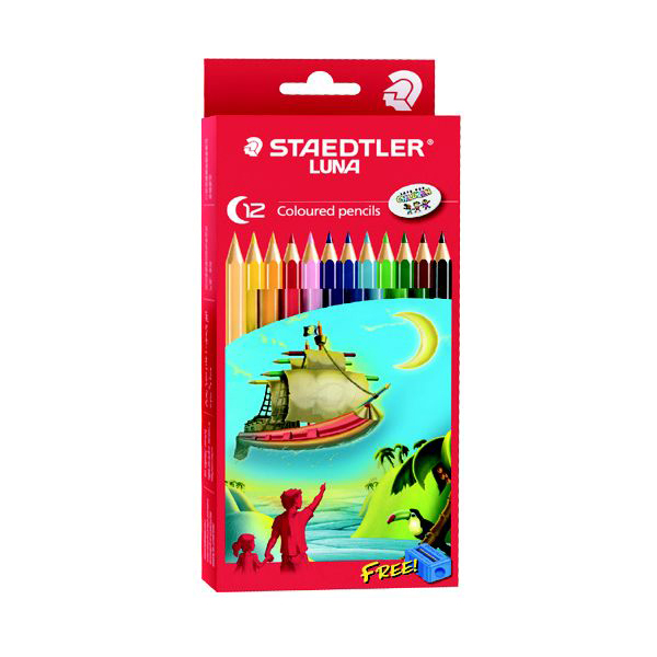 Staedtler Luna 12-Colouring Pencils - Assorted (box/12pcs)