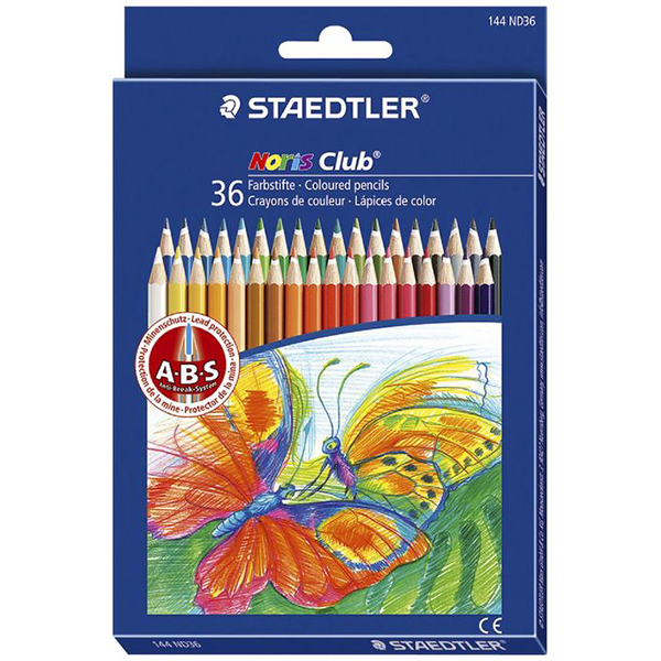 Staedtler Noris Club 36-Colouring Pencils - Assorted (box/36pcs)