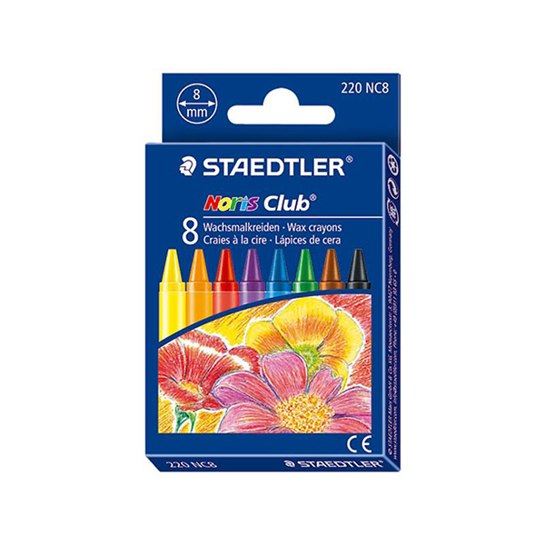 Staedtler Noris Club Wax Crayons (pkt/8pcs)