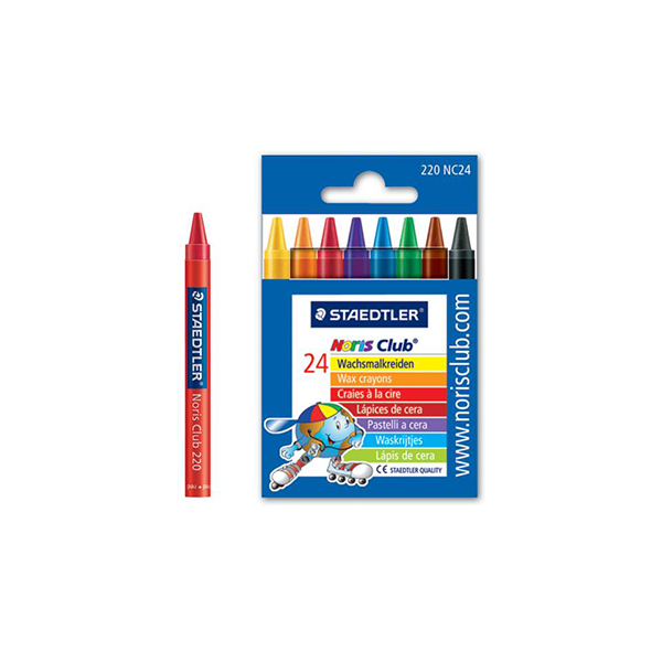 Staedtler Noris Club Wax Crayons (pkt/24pcs)