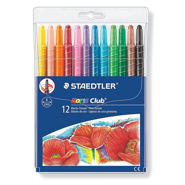Staedtler Noris Club Twistable Crayons (pkt/12pcs)