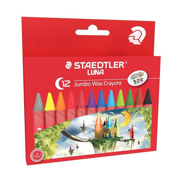 Staedtler Luna Jumbo Wax Crayons (pkt/12pcs)