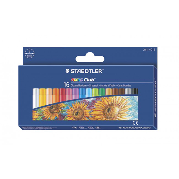 Staedtler Noris Club Oil Pastels (box/16pcs)