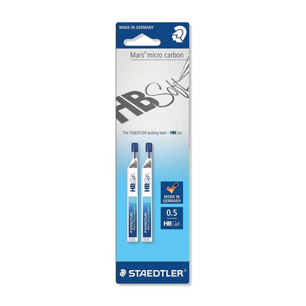 Staedtler Mars HB soft writing lead 0.5mm (pkt/2pcs)