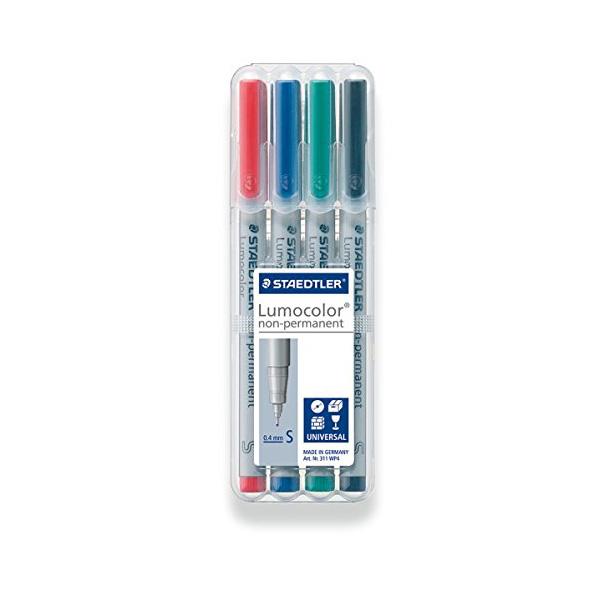 Staedtler Lumocolor OHP non-permanent pen (pkt/4pcs)