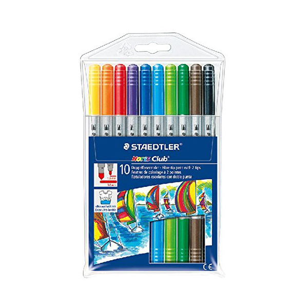 Staedtler Noris Club Doubled Ended Fibre Tip Pens (pkt/10pcs)