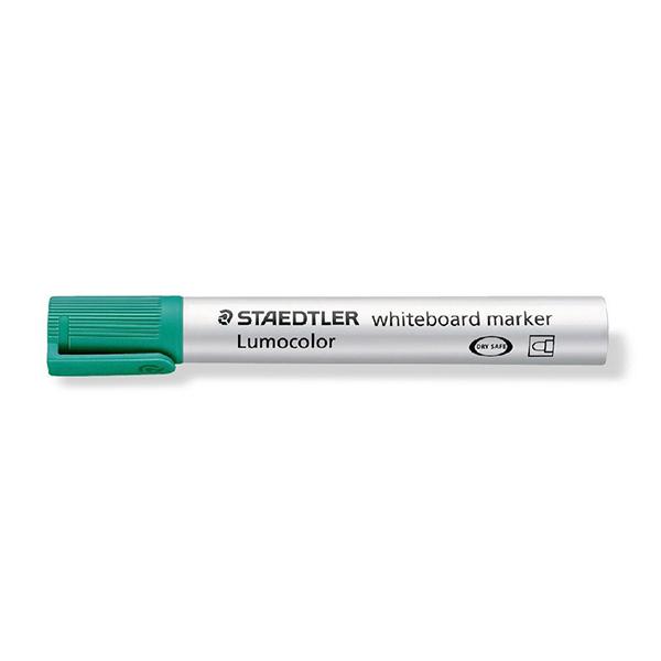 Staedtler Lumocolor Whiteboard Marker with Bullet Tip - Green (box/10pcs)