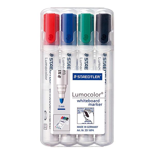Staedtler Lumocolor Bullet Tip Whiteboard Markers (pkt/4pcs)