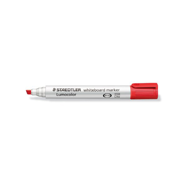 Staedtler Lumocolor Whiteboard Marker with Chisel Tip - Red (box/10pcs)