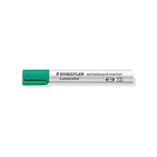 Lumocolor Whiteboard Markers by Staedtler with a chisel tip - Green (box/10pcs)