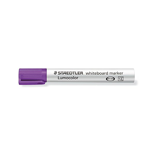 Lumocolor Whiteboard Markers by Staedtler with a chisel tip - Violet (box/10pcs)