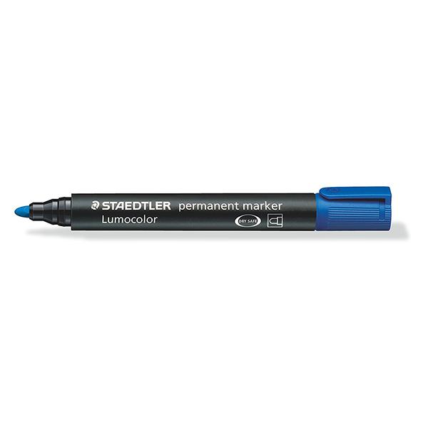 Staedtler 352-3 Lumocolor Bullet Tip Permanent Marker - Blue (box/10pcs)