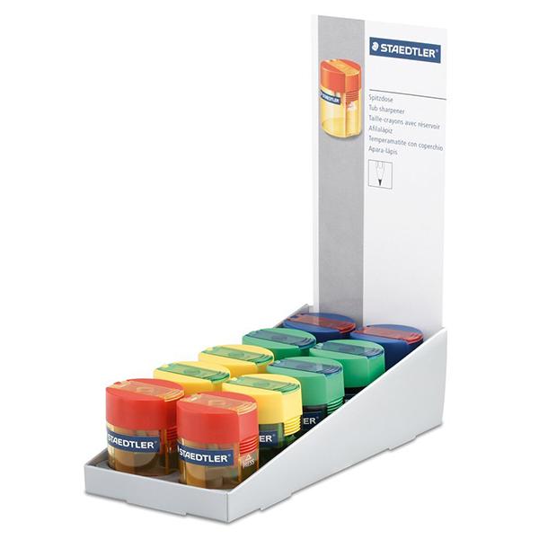 Staedtler 511 001 Single-Hole Transparent Tub Sharpener (box/10pcs)