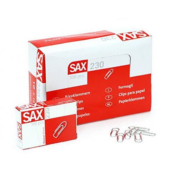 Sax Paper Clips 230 (pkt/100pc)