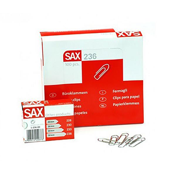 Sax 236 Paper Clip - 50mm (pkt/100pc)