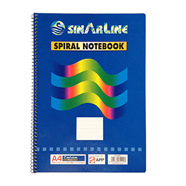 Sinarline Side Spiral Shorthand Pad - A4 (pc)
