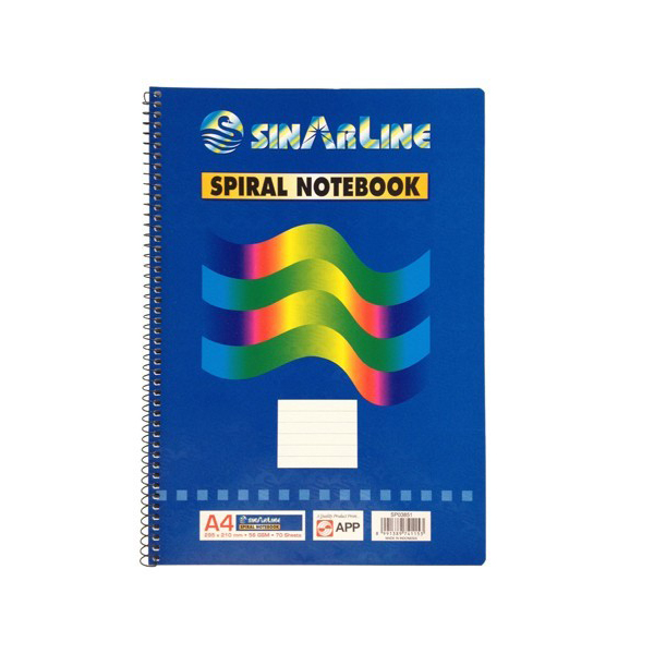 Sinarline Side Spiral Square Ruled Book A4 (pc)