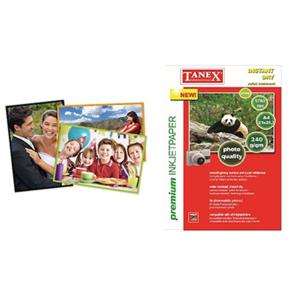 Tanex Glossy Paper A4 240gsm (Pkt/50sh)