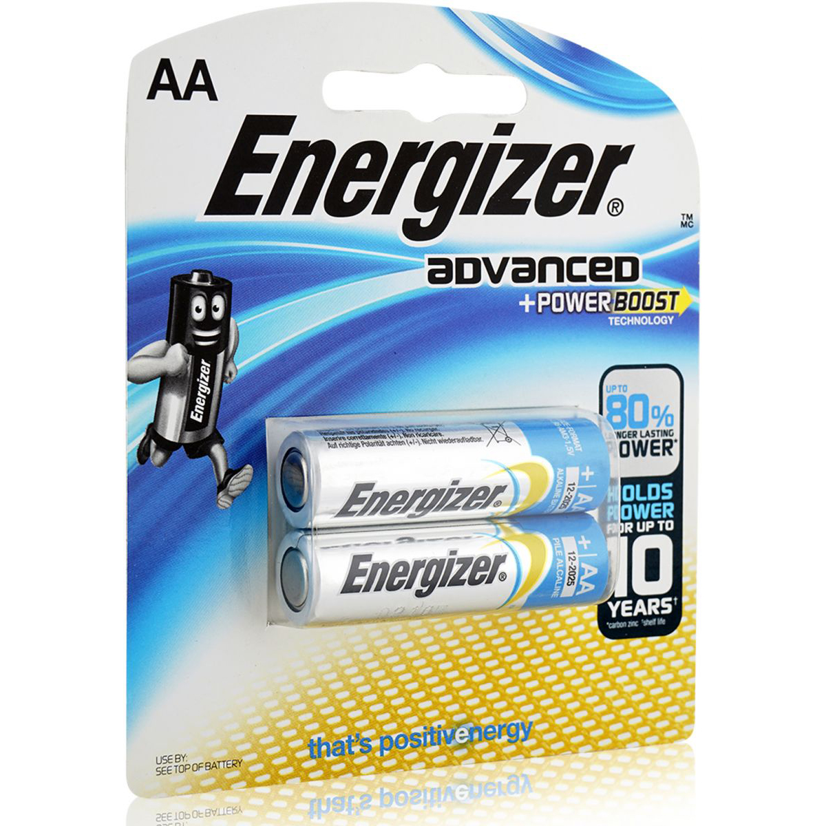Energizer X91BP2 Advanced Power Boost Battery (pkt/2pc)