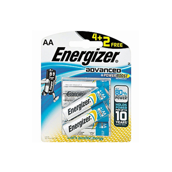 Energizer X91BP6 Advanced Power Boost Battery (pkt/6pc)