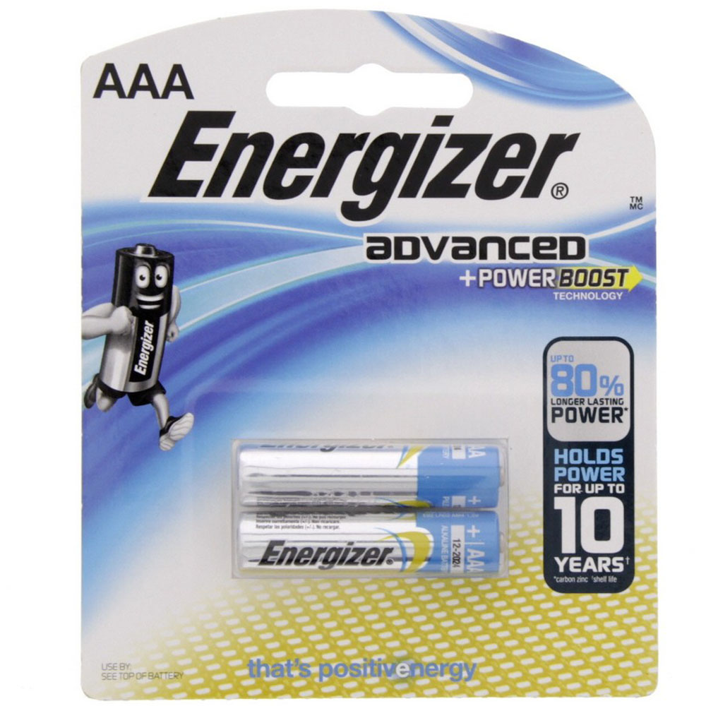 Energizer X92BP2 AAA Advanced Power Boost Battery (pkt/2pc)