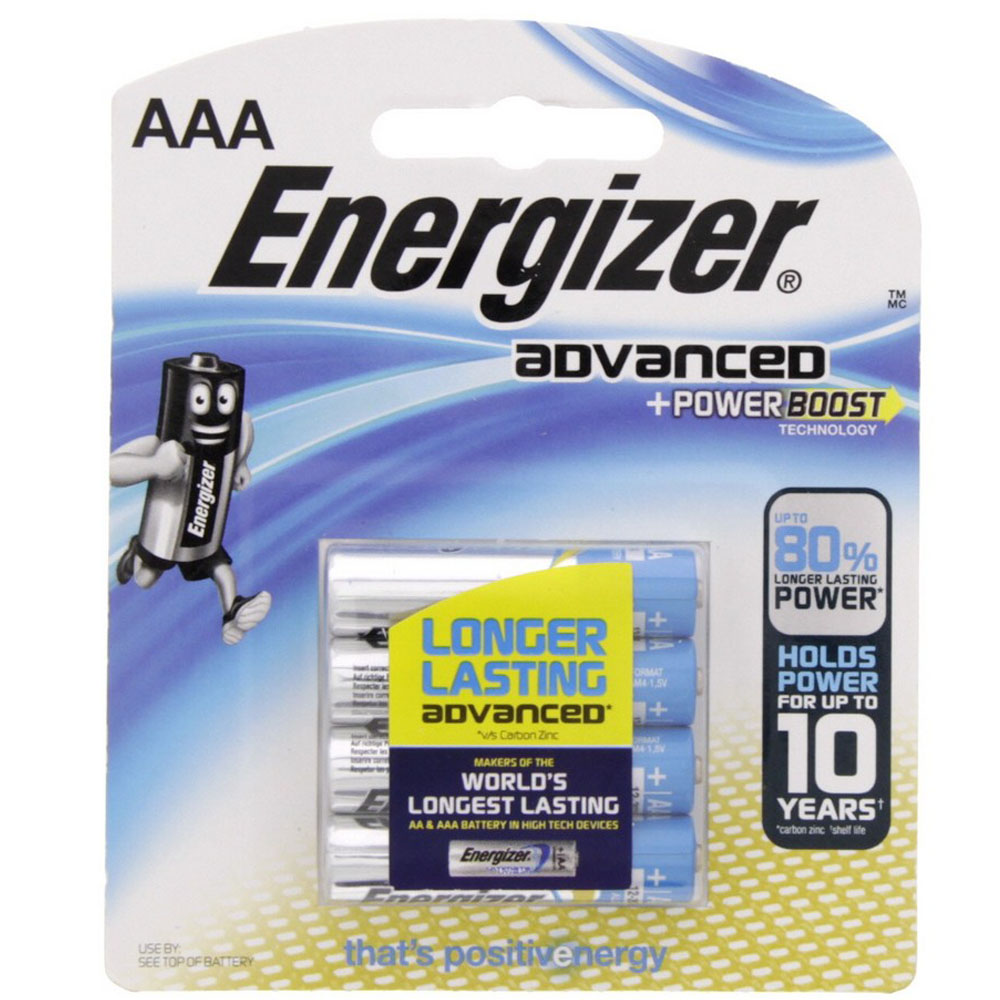 Energizer X92BP4 AAA Advanced Power Boost Battery (pkt/4pc)