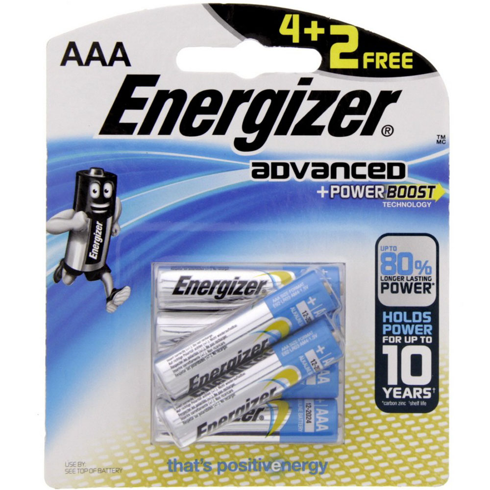 Energizer X92BP6 AAA Advanced Power Boost Battery (pkt/6pc)