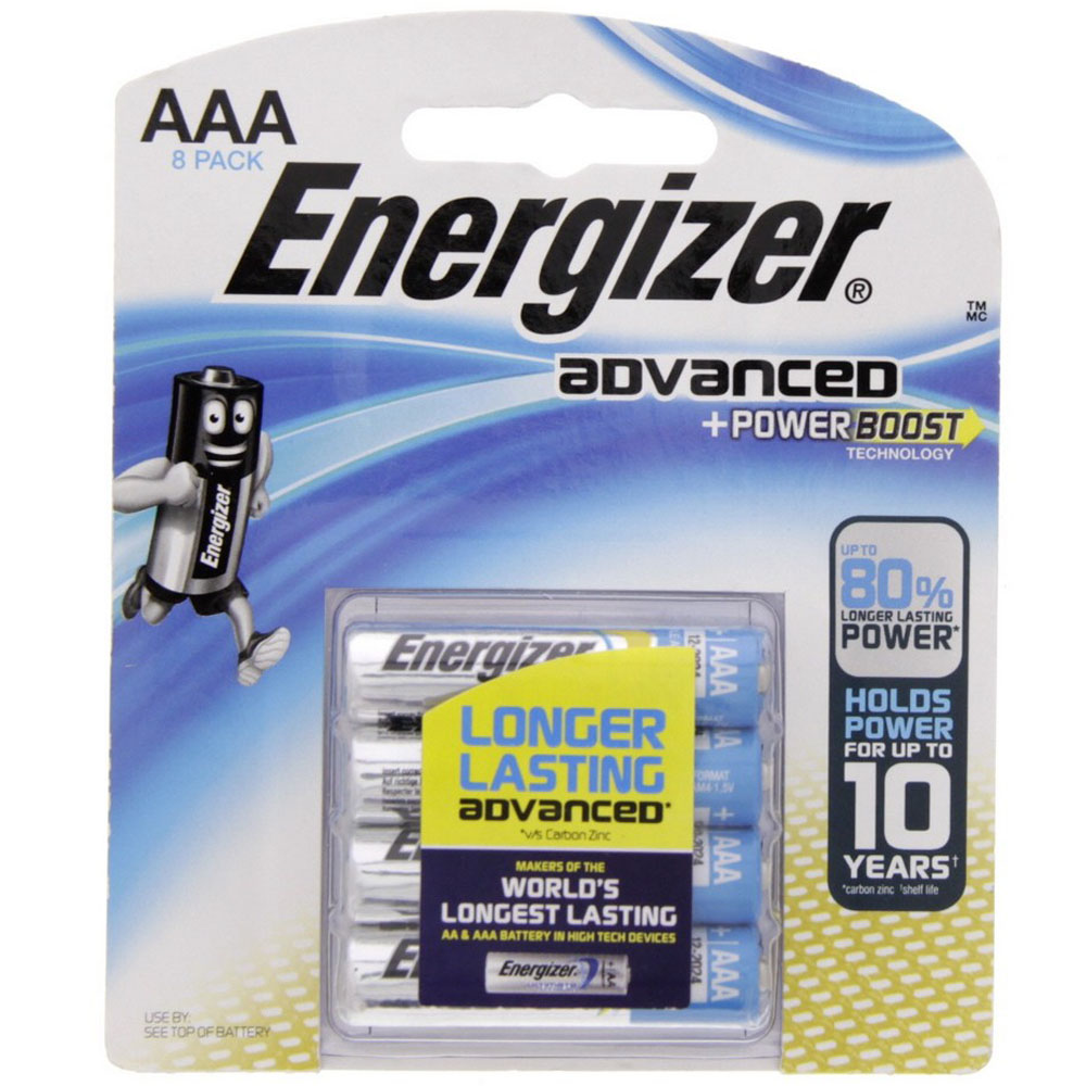 Energizer Advanced Power Boost AAA Battery - X92BP8 (pkt/8pc)