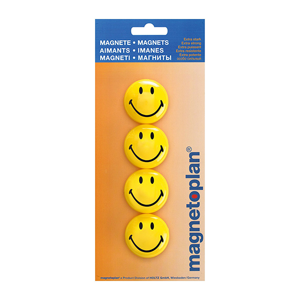 Magnetoplan Magnetic Smileys - 40mm (pkt/4pcs)